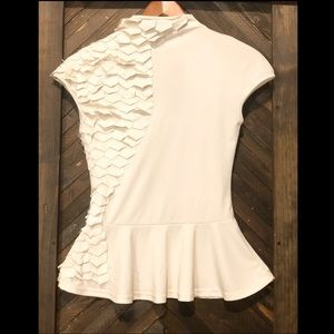 White Patchwork Blouse